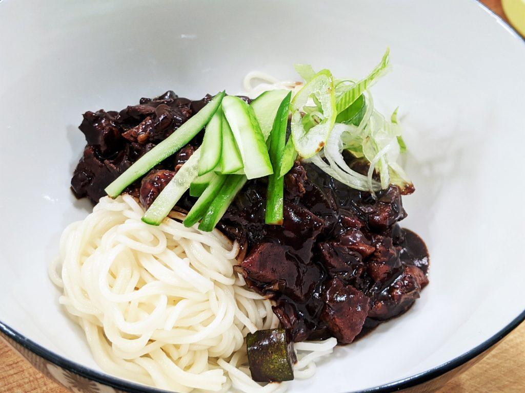 Korean Jjajangmyeon Black Bean Noodles